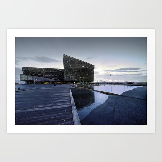 Reykjavik Festival Hall  Art Print