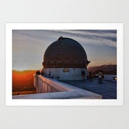 Griffith Observatory, Hollywood Sign Art Print