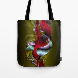 Flowered Khaki Tote Bag