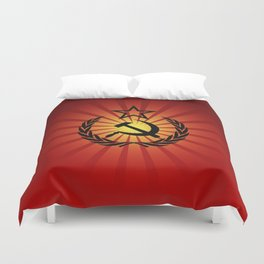 Sunny Hammer and Sickle Duvet Cover