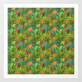 Pattern pony & friends Art Print