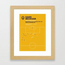 Beckham Goal Framed Art Print