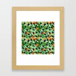 Mirabelle the boston terriers green camo Framed Art Print