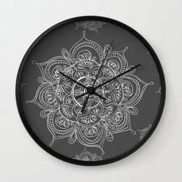 Gray mandala Wall Clock