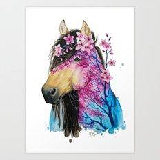 Spring horse Art Print