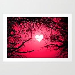 Forest Love Sunrise Art Print