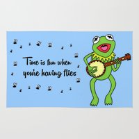 kermit Area & Throw Rugs featuring Kermit having fun by BlackBlizzard
