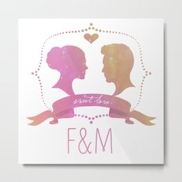 F + M Couple.  Metal Print