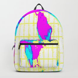 World Map: Gall Peters Colorful Backpack