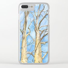 Two Sycamore Trees Clear iPhone Case