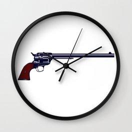 Long Barrel Six Gun Wall Clock