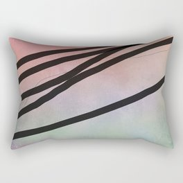 Pink Abstract with Lines - Pastel Rectangular Pillow