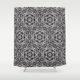 Geometric cobweb Shower Curtain