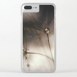 Moody Wishes Clear iPhone Case