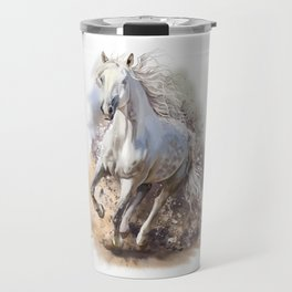 White Horse Gallop Travel Mug