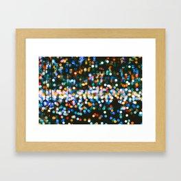 The Blurred Lights (Color) Framed Art Print