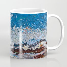 Ocean Waves - palette knife abstract painting of sea landscape Coffee Mug