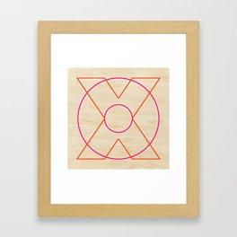 X and O Framed Art Print