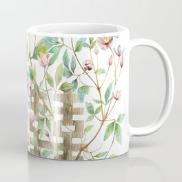 Clematis and Happiness in Marriage Symbol in a Nest Coffee Mug