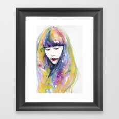lime nights Framed Art Print