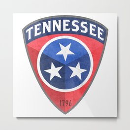 Tennessee Badge Metal Print