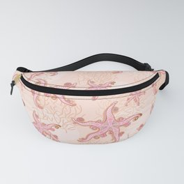 Starfish and Coral Pink Pastel Pattern Fanny Pack