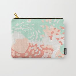 Pippa - minimal trendy gender neutral bright happy color palette nursery art Carry-All Pouch