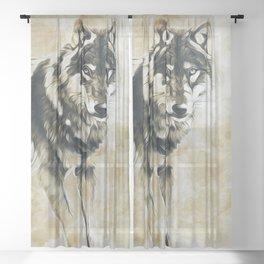 Timber Wolf Sheer Curtain
