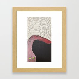 Tired Thoughts Framed Art Print