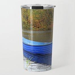 The Blue boat, Loch Affric, Scotland Travel Mug
