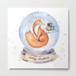 Christmas fox #1 Metal Print