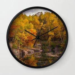 Quarry Park Fall in St Cloud, MN Wall Clock