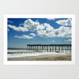 Silhouetted pier Art Print