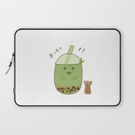 Matcha Bubble Tea Laptop Sleeve