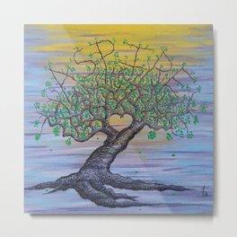 Aspire Love Tree Art Metal Print