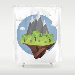 Mountains World Shower Curtain