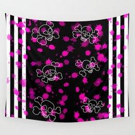 Pink Skull Wall Tapestry