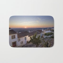 Marvao cottages at dawn, Portugal Bath Mat