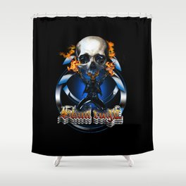 Skull rage Shower Curtain
