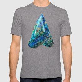 Blue Shark Tooth Art by Sharon Cummings T-shirt