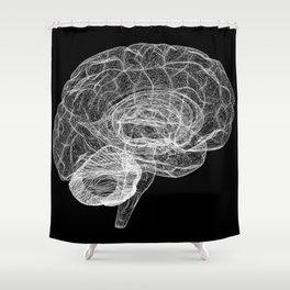 DELAUNAY BRAIN b/w Shower Curtain