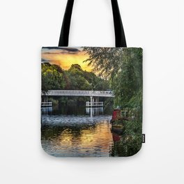 Above The Toll Bridge At Pangbourne Tote Bag