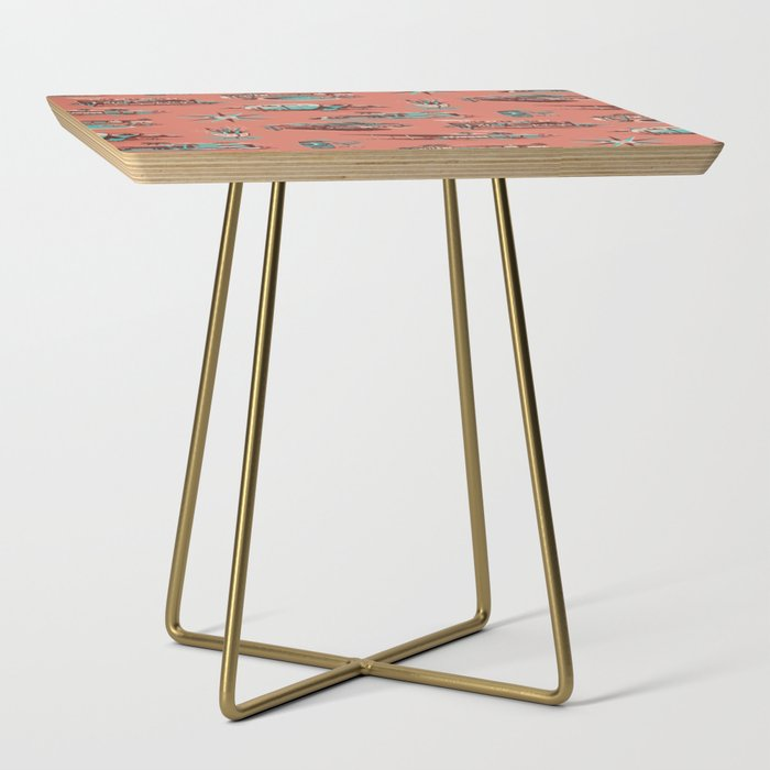 WELCOME_TO_PALM_SPRINGS_Side_Table_by_Steven_Rhodes__Gold__Square