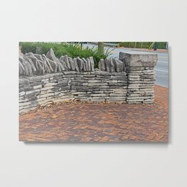 A Fence in Dublin Metal Print