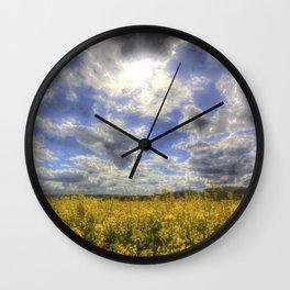 Farm Sky Art Wall Clock
