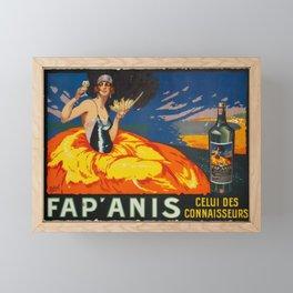 1930 'Fap' Anis' Aperitif  Vintage Poster Framed Mini Art Print