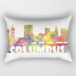 Columbus Ohio Skyline MCLR 2 Rectangular Pillow