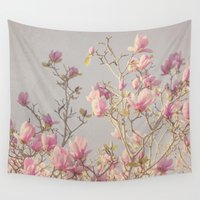 magnolia Wall Tapestries featuring Magnolia  by Pure Nature Photos