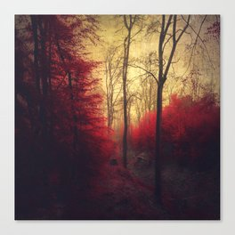 Ruby Red Forest Canvas Print