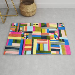 Abstract Village Rug